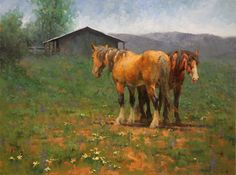 A Place in the Sun - Oil by Jim Rey - Horses Western Art, Pencil Drawings, Westerns, Horses, Oil, Sculpture, Fine Art, Places, Artist