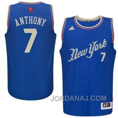 http://www.jordanaj.com/nba-201516-season-new-york-knicks-7-carmelo-anthony-christmas-blue-jersey.html NBA 2015-16 SEASON NEW YORK KNICKS #7 CARMELO ANTHONY CHRISTMAS BLUE JERSEY Only $89.00 , Free Shipping!