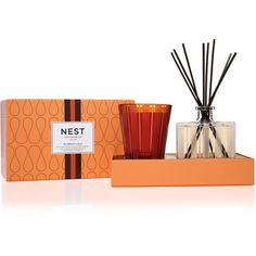 Nest Fragrances Pumpkin Chai Candle + Diffuser Set ($72) ❤ liked on Polyvore featuring home, home decor, candles & candleholders, autumn scented candles, cinnamon candles, fragrance candles, cinnamon scented candles and fall candles