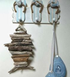 5 Ways to Make a Driftwood Fish for the Wall -DIY Tutorials - what a great way to use all of those driftwood pieces you find on your #OBX vacation!