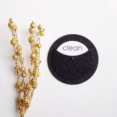 Noir Glitter Clean Dirty Dishwasher Magnet Black by thetullebox