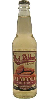 Red Ribbon: Almond Cream Soda   #soda #almond #cream