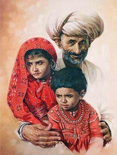 Paintings by Ashok Khant on Behance Acrylic Portrait Painting, Portrait Art, Watercolor Paintings, Potrait Painting, Portraits, Hair Painting, Watercolour, Indian Artwork, Indian Art Paintings