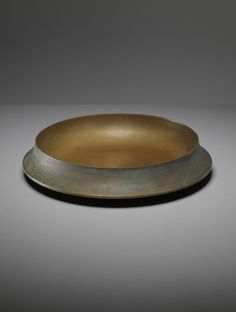 Angelo Mangiarotti; Cast and Polished Bronze Bowl for Bernini, c1962.