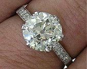 Vintage Platinum Old Cushion Cut by myvintagediamondring Antique Jewelry, Vintage Jewelry, Vintage Diamond Rings, Dress Rings, Diamond Are A Girls Best Friend, Cushion Cut, Diamond Earrings, Bling