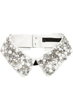 Karl | Embellished cotton collar | NET-A-PORTER.COM