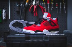 #AirJordan 4 Red