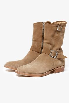BIKER ZIP UP BOOTS COW SUEDE by OFFICINE CREATIVE for Rags McGREGOR | BOOTS | COVERCHORD