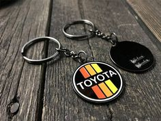 Toyota Retro Stripes Keychain. Great man gift for Toyota fan