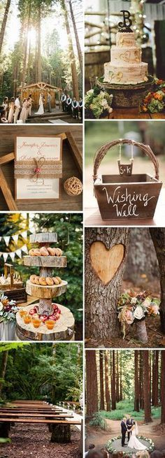 rustic wedding ideas in the woods #weddingideas