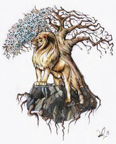 Tree Of Life Pictures Tattoo Dan Bede Fazekas Art Blog Lion And Tree Of Life Tattoo Design