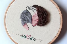 embroidered friends with 16 cm hoop embroidery art hoop art couple embroidery Hair embroidery contemporary embroidery hoop art Embroidery Floss Projects, Hand Embroidery Videos, Creative Embroidery, Hand Embroidery Patterns, Embroidery Techniques, Contemporary Embroidery, Modern Embroidery, Diy Embroidery, Cross Stitch Embroidery