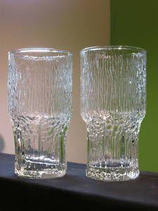 2 Mid Century Iittala Wirkkala Finland Aslak Tall Glass Finland, Shot Glass, Candle Holders, Mid Century, Candles, Tableware, Ebay, Dinnerware, Tablewares
