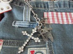Bourse en jeans recyclée by TICTAC1212 on Etsy