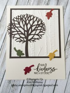 Stampin' Up! Thoughtful Branches for Fall (Stampin With Kjoyink)