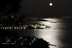 Moonlight at Chania #crete #island #greece