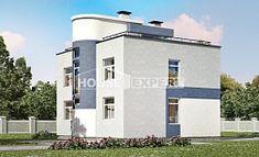 180-005-П Проект двухэтажного дома, простой домик из газосиликатных блоков