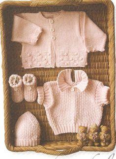 Vintage knitting free patterns, gratis breipatronen onder andere jaren 70 patronen: Breipatroon baby een schattig babytruitje, mutsje ...