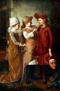George Henry Story - Costume party