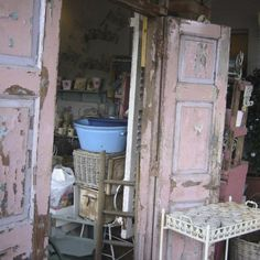 Shabby Pink doors