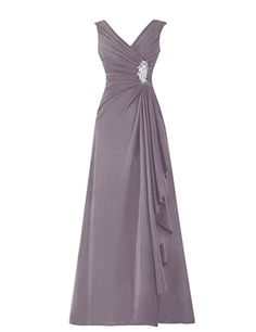 Diyouth Long Chiffon Pleated Ruffles Mother of the Bride Dress Grey Size 2 Diyouth http://www.amazon.com/dp/B00TX5CFL0/ref=cm_sw_r_pi_dp_inIgvb1MJWM0K