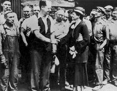 Frances Perkins meets with Labor groups