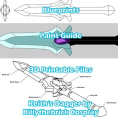 Voltron Inspired Prop Keith Galra Dagger for Cosplay - STL Files for Printing sold by Billythebrick Cosplay. Shop more products from Billythebrick Cosplay on Storenvy, the home of independent small businesses all over the world. Cosplay Tutorial, Cosplay Diy, Cosplay Makeup, Halloween Cosplay, Cosplay Costumes, Cosplay Ideas, Anime Cosplay, Costume Ideas, Voltron Cosplay
