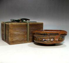 Antique Japanese Oribe Pottery Tea Bowl #1906 - ChanoYu online shop