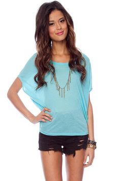 Well Rounded Knit Top in Sky Blue $31 at www.tobi.com