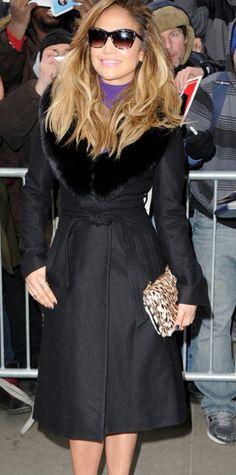 Jennifer Lopez wearing the Jo Coat