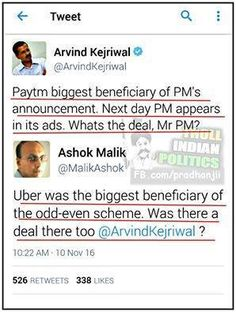 Senior journalist Ashok Malik gives tight slap to Arvind Kejriwal on PayTM using PM Modi's image. #arvindkejriwal #AAP #dirtypolitics #politics