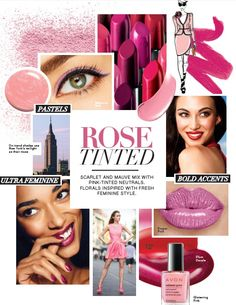 Scarlet and mauve mix with pink-tinted neutrals. Florals inspire with fresh feminine style #DareToBeBold #Avon #Makeup http://eseagren.avonrepresentative.com