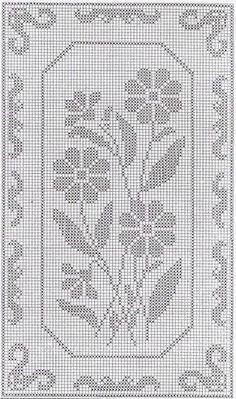 flower 19 x 19 Crochet Table Runner Pattern, Crochet Doily Patterns, Crochet Borders, Crochet Tablecloth, Thread Crochet, Crochet Motif, Crochet Doilies, Cross Stitch Embroidery, Cross Stitch Patterns