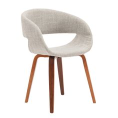 Shop Porthos Homes Mid-century Style Dining Chair With Fabric Upholstery - On Sale - Overstock - 18235123 - Light Grey Contemporary Dining Chairs, Solid Wood Dining Chairs, Dining Table Chairs, Contemporary Decor, Dining Room Furniture, Dining Nook, Apartment Furniture, Apartment Living, Furniture Ideas
