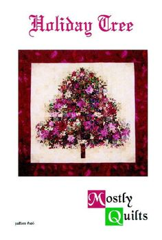 Holiday Tree Watercolor Art Quilt Wall Hanging by mostlyquilts, $8.50