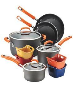 Rachael Ray Hard-Anodized Nonstick 12-Piece Cookware Set | macys.com
