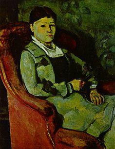 Paul Cézanne - Portrait of Madame Cézanne with a Fan