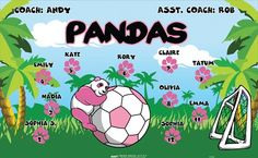 Pandas-151656 digitally printed vinyl soccer sports team banner. Made in the USA and shipped fast by BannersUSA. www.bannersusa.com