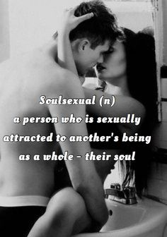 I think this is totally me, I'm attached by your vibe and your mind, before your looks. The looks will go away but what inside.Shall last a lifetime!