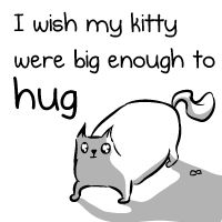 Click to see the comic. Cat lover's understand. I wish my kitty were big enough to hug - The Oatmeal