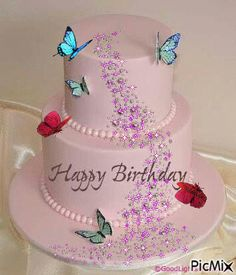 happy birthday cake for ladies ile ilgili görsel sonucu Birthday Cake Gif, Happy Birthday Wishes Cake, Birthday Wishes Greetings, Happy Birthday Cake Images, Happy Birthday Celebration, Happy Birthday Flower, Birthday Blessings, Happy Birthday Sister, Happy Birthday Messages