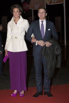 Princess Marilene of The Netherlands and Prince Maurits of The Netherlands attend a celebration of the reign of Princess Beatrix on 01.02.14 in Rotterdam, Netherlands.