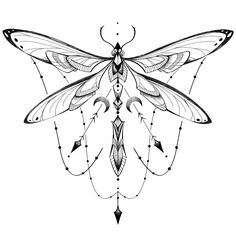Dragonfly geometry Art Print by Laure Olivesi - X-Small Dragonfly Tattoo Design, Dragonfly Art, Tattoo Designs, Dragonfly Tatoos, Tattoo Ideas, Body Art Tattoos, Tattoo Drawings, New Tattoos, Heart Tattoos