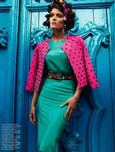 "The Terrier and Lobster: ""Inca"": Isabeli Fontana in Peru by Mario Testino for Vogue Paris April 2013"