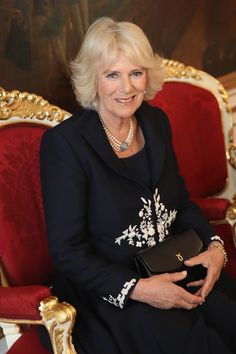 Camilla, Duchess of Cornwall tours the Hofburg Palace on April 2017 in Vienna, Austria. Her Royal Highness will accompany the First Lady on a tour of the Presidential apartments whilst His Royal. Get premium, high resolution news photos at Getty Images Camilla Parker Bowles, Windsor, Camilla Duchess Of Cornwall, Duchess Of Cambridge, Royal Marriage, Elisabeth Ii, Navy Coat, Herzog, Prince Phillip