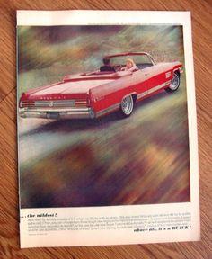 1964 Buick Wildcat Convertible Ad The Wildest | eBay