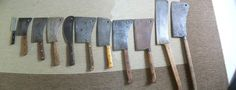 It started when my son and I started looking for vintage cleavers because of Bill the Butcher on the movie Gangs of New York. I have to large two handed beef/lamb splitters that were made by Foster Bros. Camping Images, Gangs Of New York, Butcher Knife, Blacksmithing, Kitchen Knives, Cutlery, Lamb, Weapons, Bakery