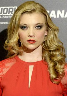 NATALIE DORMER'S TUMBLING CURLS Game of Thrones actress Natalie Dormer's beautiful full curls are the stuff of hair legend. Ideally you'd need hot rollers to get this right but once it's done you'll feel like a princess.