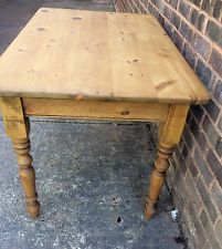 Antique Scrubbed Pine Dining Table Just Waxed