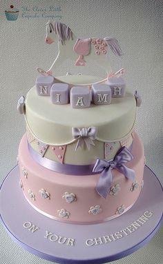 Rocking Horse Christening Cake   Flickr - Photo Sharing!